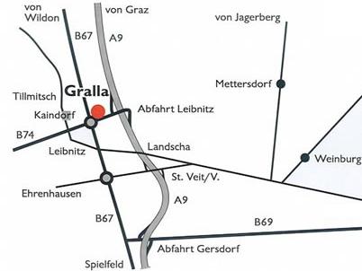 Anfahrtplan zur Firma Draxler - Leibnitz